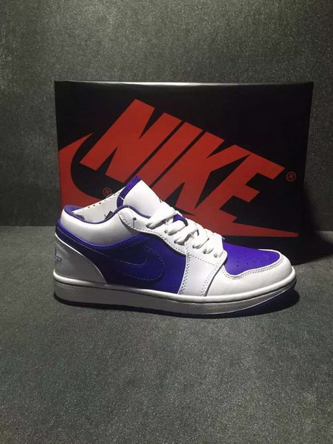 Air Jordan 1 Low Shoes Purple/White